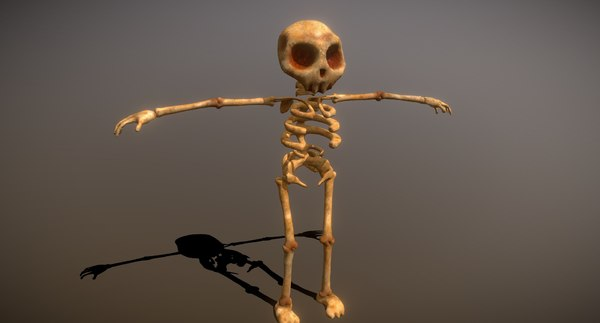 cartoon skeleton 3D