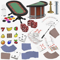 casino games playing 3D model