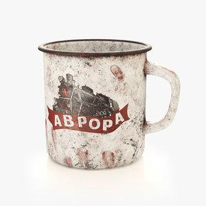 3D old mug