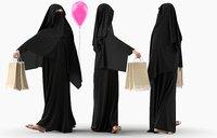 character traditional arab woman model