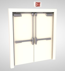 door entrance exit 3D