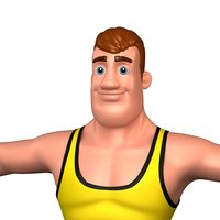 cartoon man 2 bodybuilder