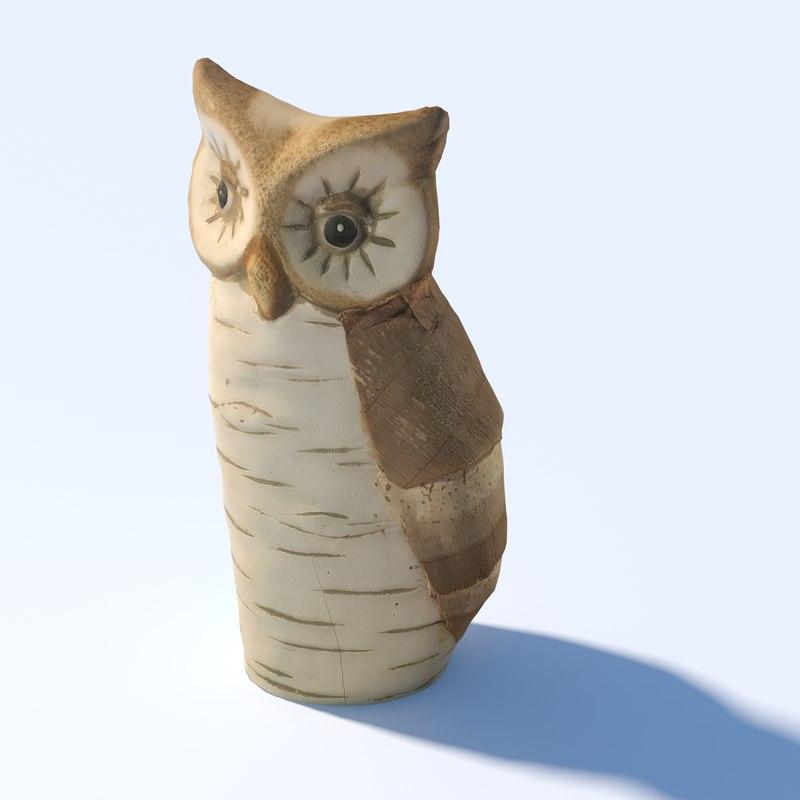 3D deco owl