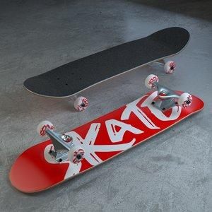 3D brand skateboard