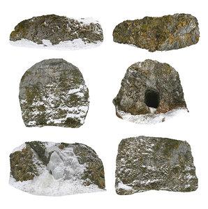 3D viking cliffs pack 6
