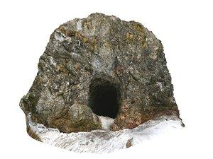 3D viking cliffs cave 16k