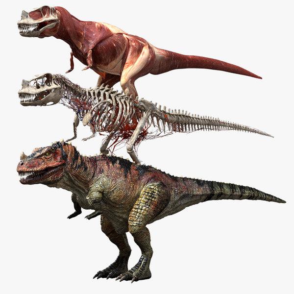 ceratosaurus v-ray rigged model