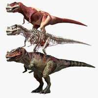 ceratosaurus v-ray rigged model
