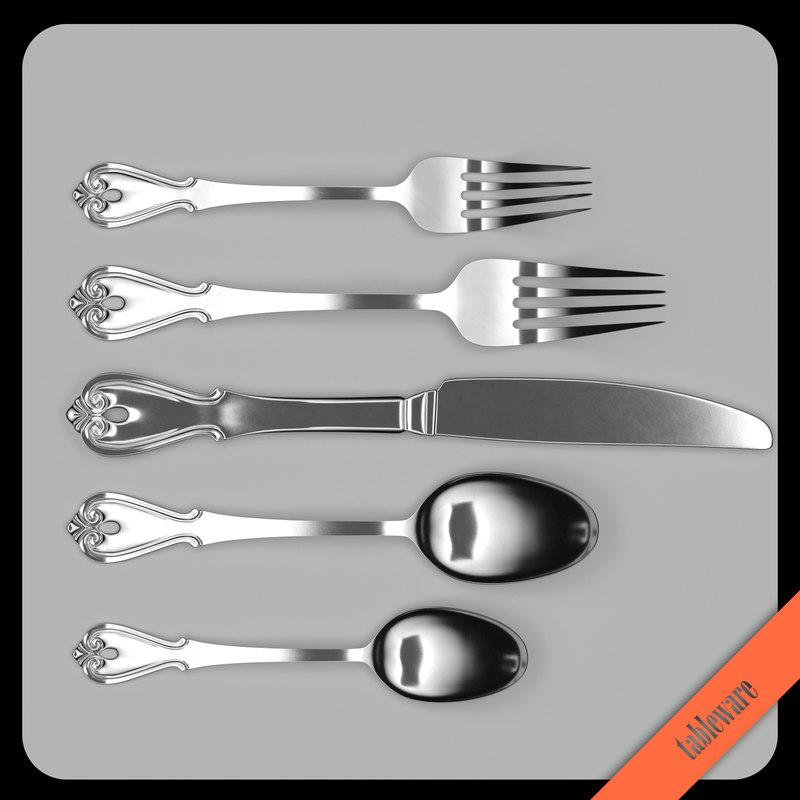 oneida cutlery table knife spoon model