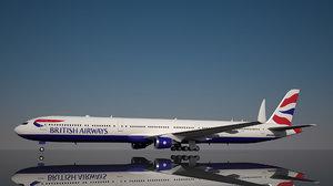 british airways 777 9x 3D model