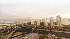 urban scheme dubai 3D model