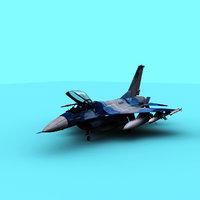 3D navy f-16 model