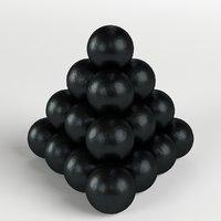cannonballs stack 2 3D