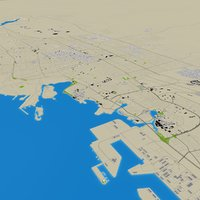 Jeddah 3d CIty Street Map Saudi Arabia