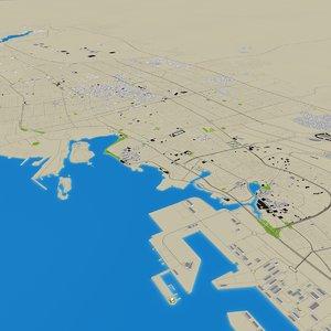 jeddah city saudi arabia 3D model