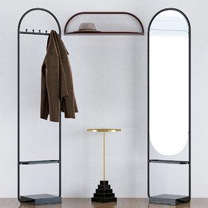 3D hallway furniture aytm denmark model