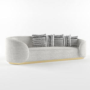 eden rock sofa linen 3D model
