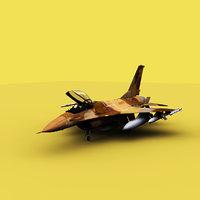 navy f-16 3D model