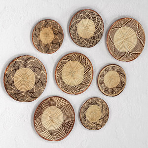 3D model set african baskets wall
