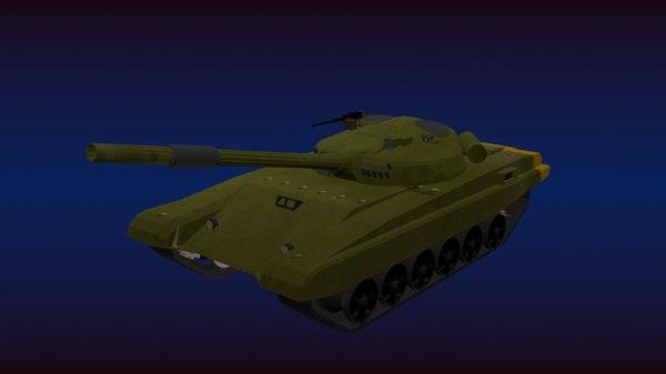 3D t-72 main battle tank model