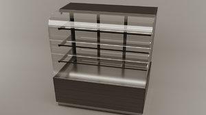 patisserie exhibition cabinet 3D