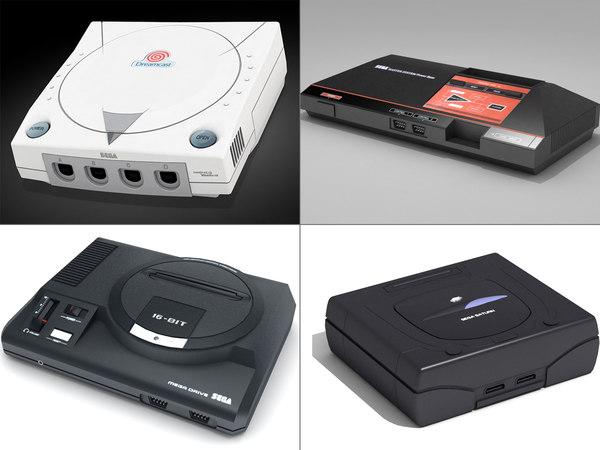 3D sega console model