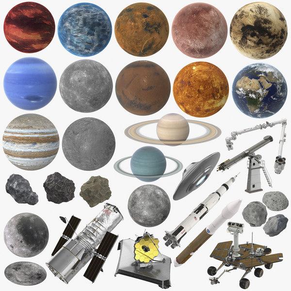 space exploration 3D model