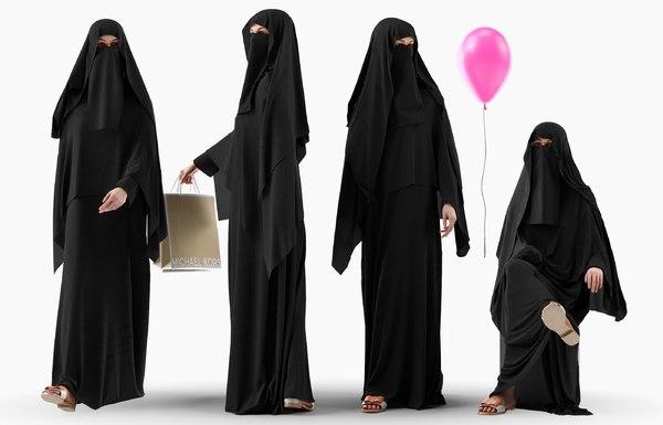 3D character arab woman 4