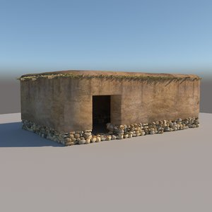 prehistoric neolithic structure 3D model
