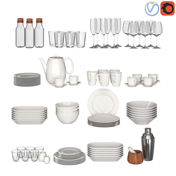 3D glasses sets kitchen