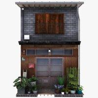 3D model old tokyo building
