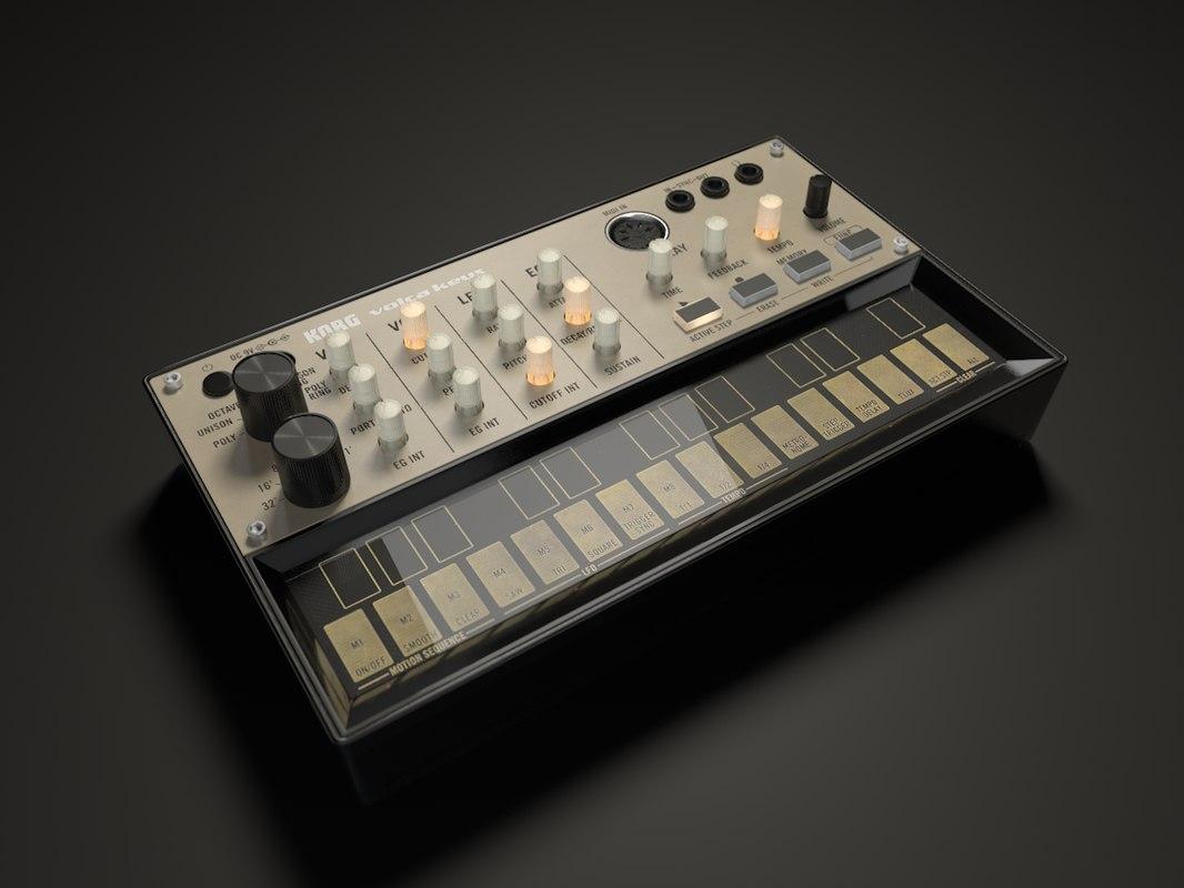 korg volca keys synthesizer 3d model turbosquid 1386648. Black Bedroom Furniture Sets. Home Design Ideas