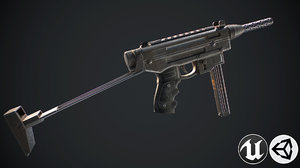 bullet gun 3D model