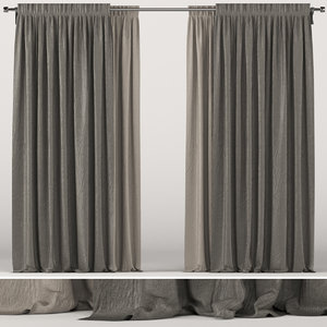 3D brown curtain