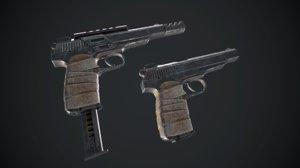 gun weapon pistol 3D