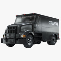 3D model armored truck