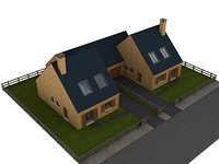 house cottage casa model