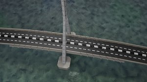 design suspension bridge details 3D model