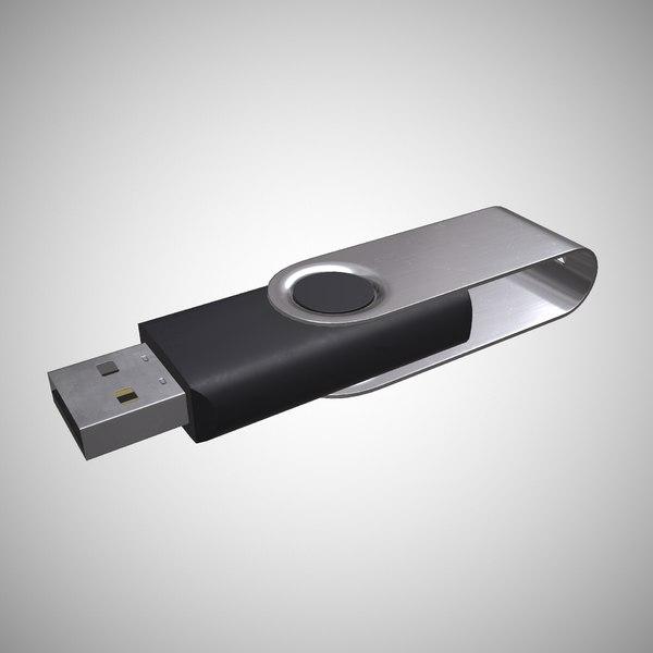 usb flash drive 3D