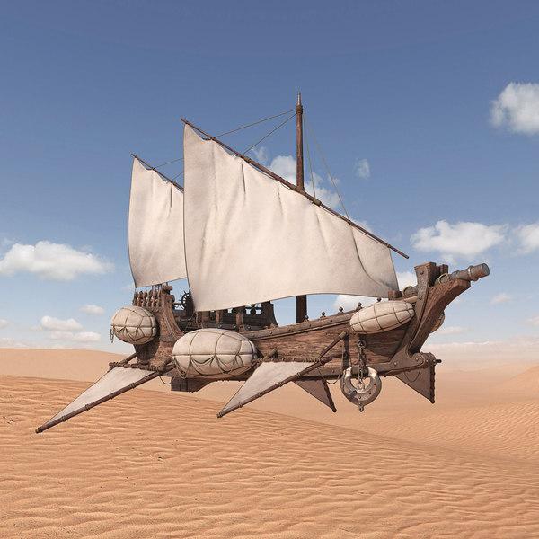 3D flying ship model