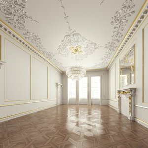 classic interior rooms 3D