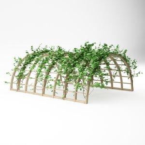 3ds max pergola garden plant