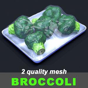 broccoli mesh 3D model