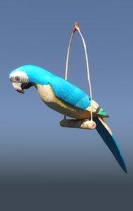 3D wooden parrot