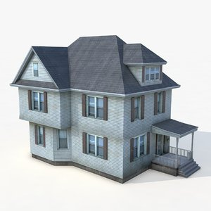 3D story house architectural buildings model