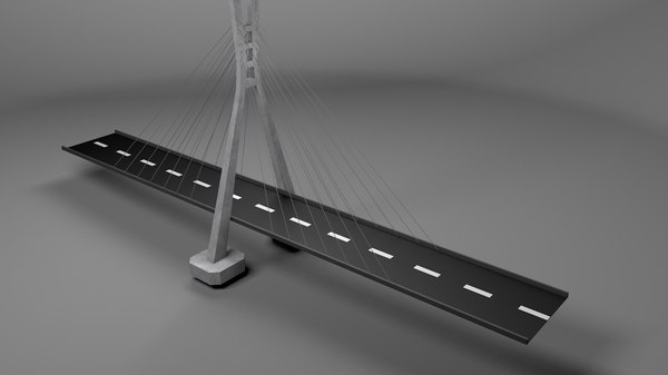 suspension bridge 3D