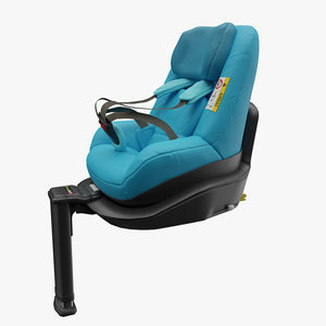 iso-fix car seat baby 3D model