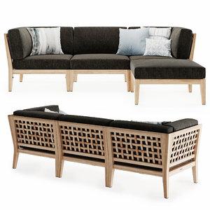 modular sofa milton outdoor 3D model