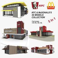 3D 5 kfc mcdonalds restaurants