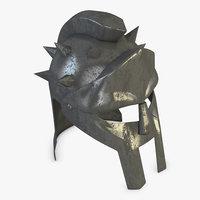 3D gladiator helmet model